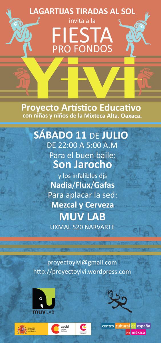 Fiesta Pro fondos YIVI / Sábado 11 de julio / MUV Lab